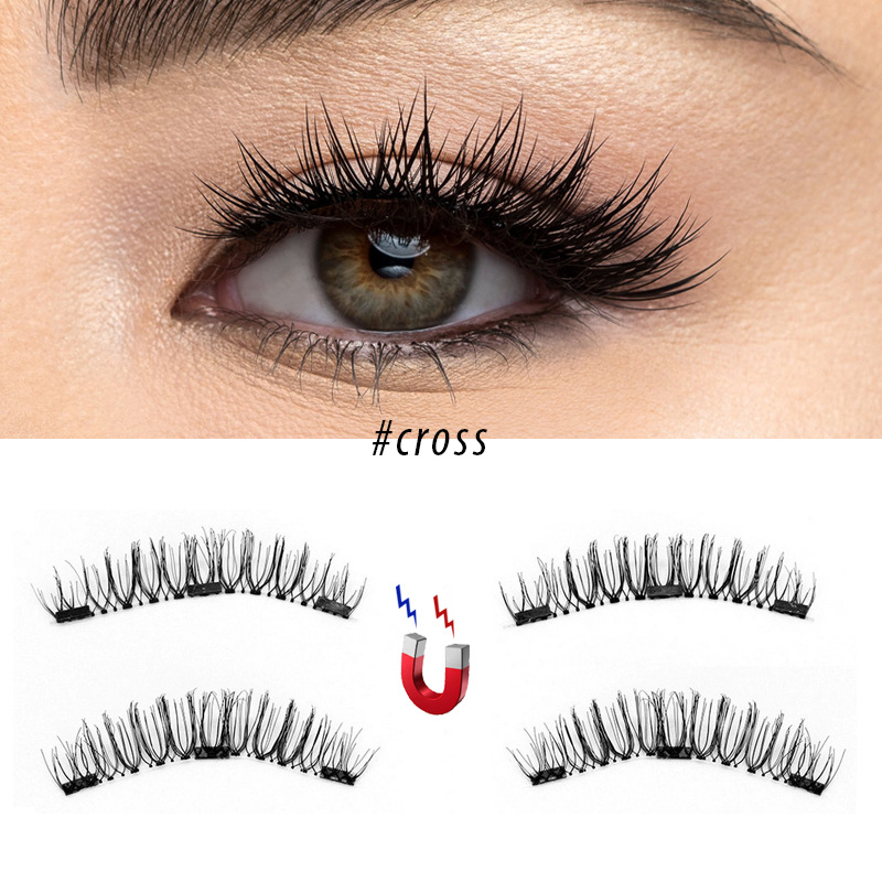 3d Natural Cross Magnetic False Eyelashes Julie Nails And Spa Beauty